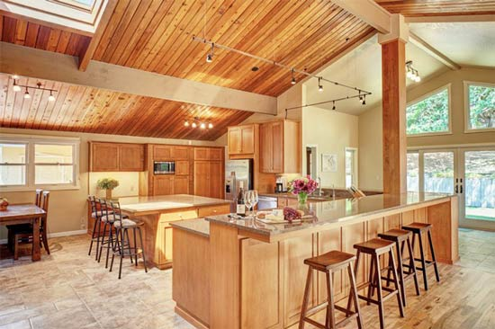 آشپزخانه روستیک و مدرن