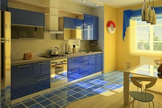 کابینت آشپزخانه سورمه ای