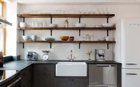 کابینت آشپزخانه بدون درب