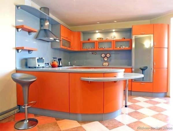 کابینت ام دی اف مدرن نارنجی
