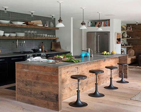 کابینت آشپزخانه ی  کوچک-کابینت ام دی اف کابیت قهوه ای مشکی
