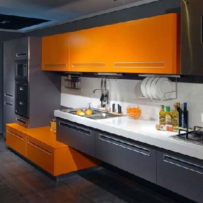 کابینت خاکستری نارنجی