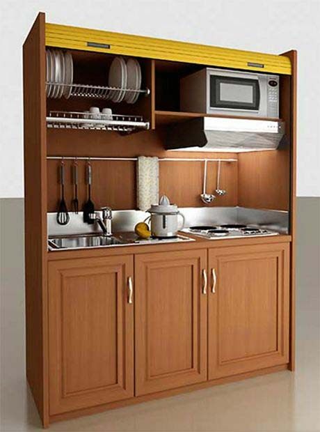 کابینت اشپزخانه ی خیلی کوچک